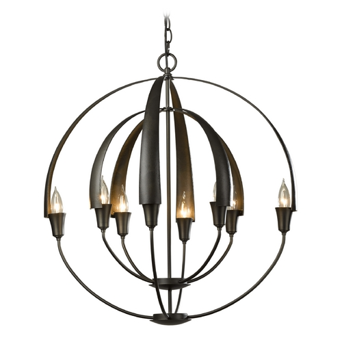 Hubbardton Forge Lighting Hubbardton Forge Lighting Cirque Dark Smoke Chandelier 104205-07-NO