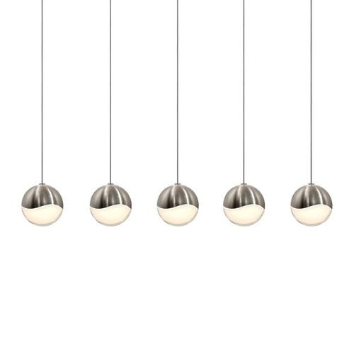 Sonneman Lighting Sonneman Grapes Satin Nickel 5 Light LED Multi-Light Pendant 2921.13-MED