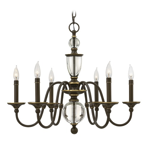 Hinkley Lighting Hinkley Lighting Eleanor Light Oiled Bronze Chandelier 4956LZ