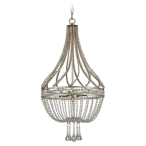 Currey and Company Lighting Currey and Company Lighting Ing Nue Chinois Antique Silver Leaf Chandelier 9634