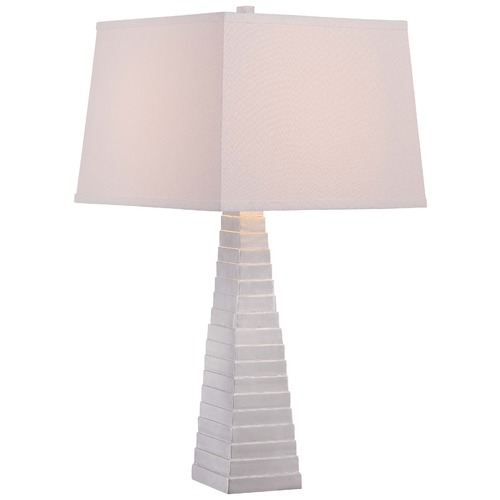 Minka Lavery Minka Silver Leaf Table Lamp with Square Shade 12423-0