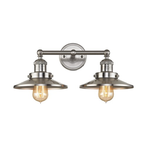 Elk Lighting Elk Lighting English Pub Satin Nickel Bathroom Light 67171/2