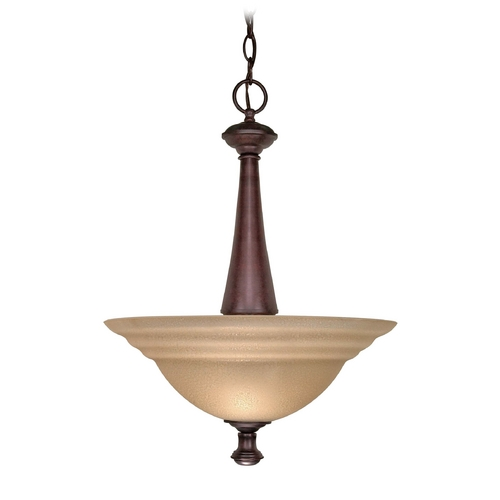 Nuvo Lighting Pendant Light with Amber Glass in Old Bronze Finish 60/104