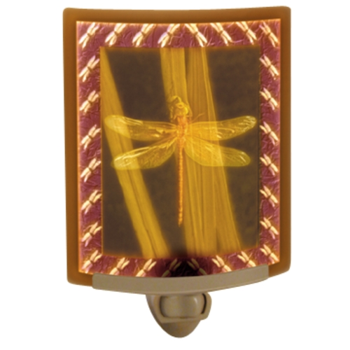 Porcelain Garden Lighting Dragonfly Colored Lithophane Night Light NRC-141