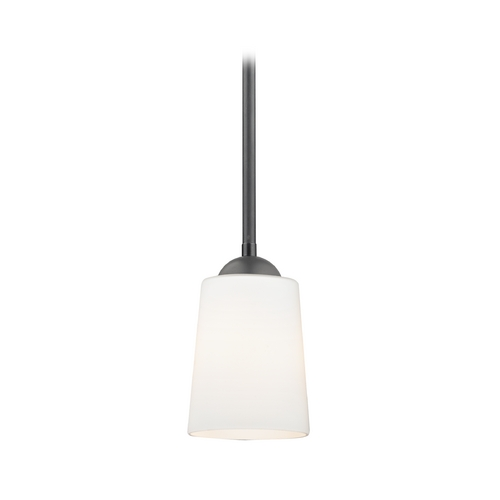 Design Classics Lighting Modern Mini-Pendant Light with Satin White Glass 581-07  GL1027