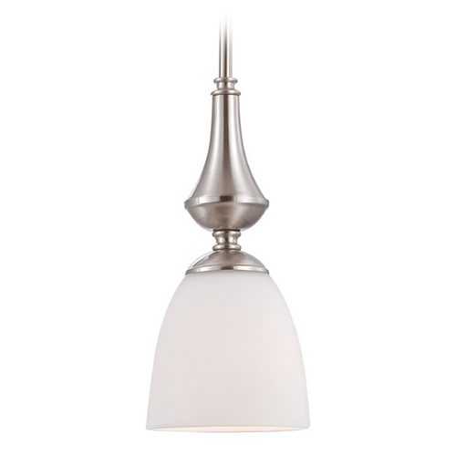 Nuvo Lighting Mini-Pendant Light with White Glass 60/5037