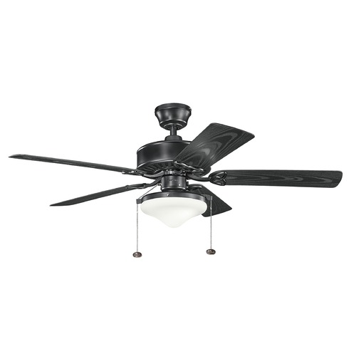 Kichler Lighting Kichler Lighting Renew Select Patio Ceiling Fan with Light 339516SBK