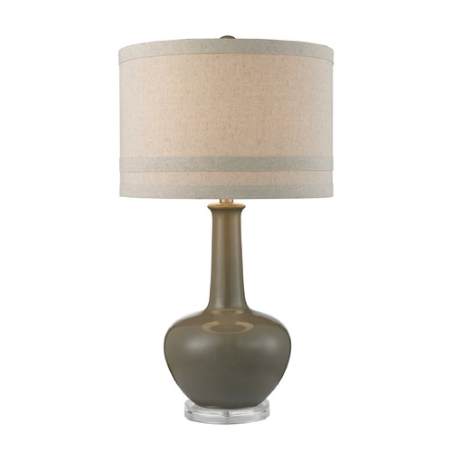 Dimond Lighting Dimond Lighting Grey Glaze Table Lamp with Drum Shade D2623