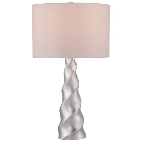Minka Lavery Minka Silver Leaf Table Lamp with Drum Shade 12424-1