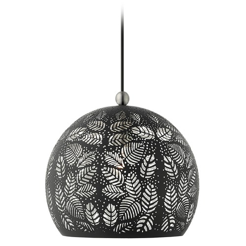 Livex Lighting Livex Lighting Pendant Light in Black with Brushed Nickel Accents 49542-04