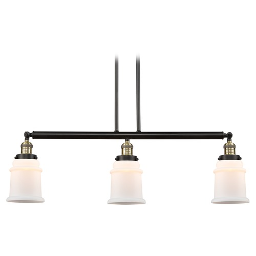 Innovations Lighting Innovations Lighting Canton Black Antique Brass Island Light with Bell Shade 213-BAB-S-G181