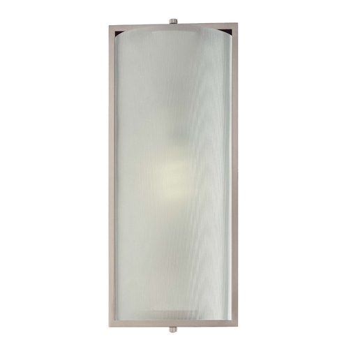 Minka Lavery Modern Sconce Wall Light with White Glass in Brushed Nickel Finish 373-84-PL