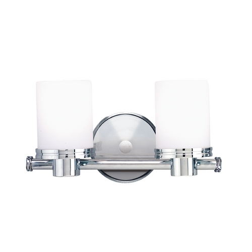 Hudson Valley Lighting Modern Bathroom Light with White Glass in Polished Chrome Finish 2052-PC