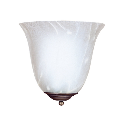 Sea Gull Lighting Sconce Wall Light with Beige / Cream Glass in Antique Bronze Finish 4108-71