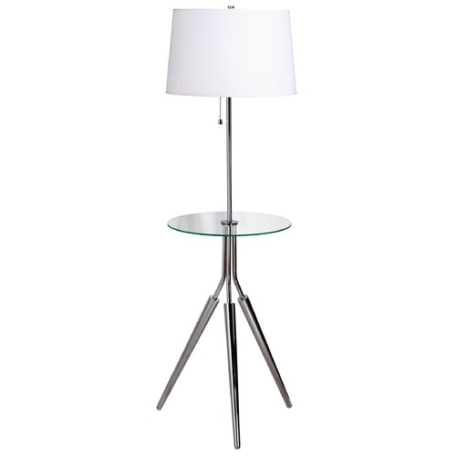 Kenroy Home Lighting Modern Floor Lamp with White Shade in Chrome Finish 30510CH