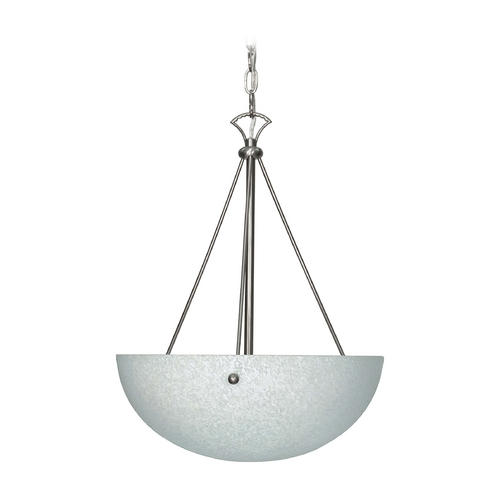 Nuvo Lighting Modern Pendant Light with White Glass in Brushed Nickel Finish 60/133