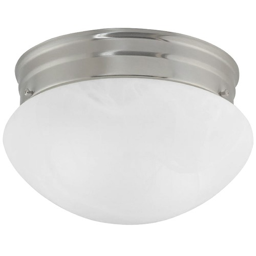 Design Classics Lighting 8-Inch Flushmount Ceiling Light 2962ES-SN/ALB