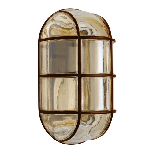 Besa Lighting Outdoor Wall Light with Grey Glass in Bronze Finish 396197