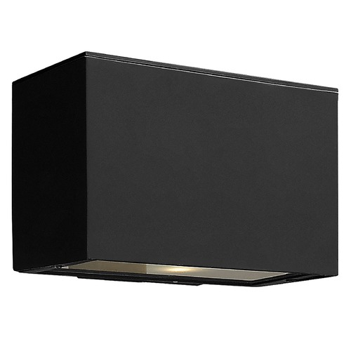 Hinkley Lighting Modern LED Outdoor Wall Light with Etched in Satin Black Finish 1646SK-LED