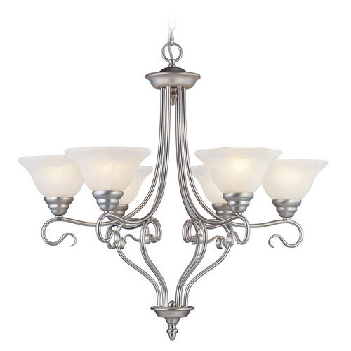 Livex Lighting Livex Lighting Coronado Brushed Nickel Chandelier 6126-91