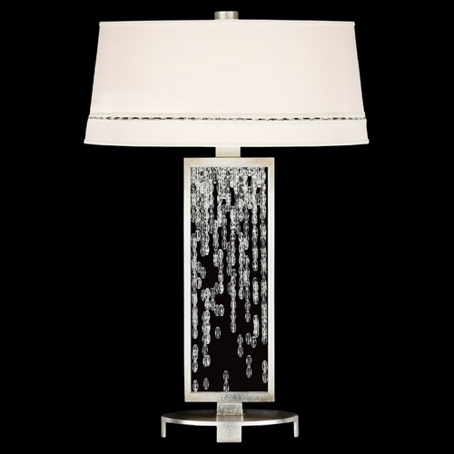 Fine Art Lamps Fine Art Lamps Cascades Warm Silver Leaf Table Lamp with Empire Shade 771910ST