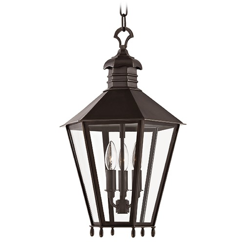 Hudson Valley Lighting Barstow 3 Light Pendant Light Hexagon Shade - Old Bronze 8813-OB