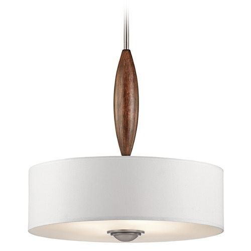 Kichler Lighting Kichler Lighting Lucille Pendant Light with Drum Shade 43841CLP