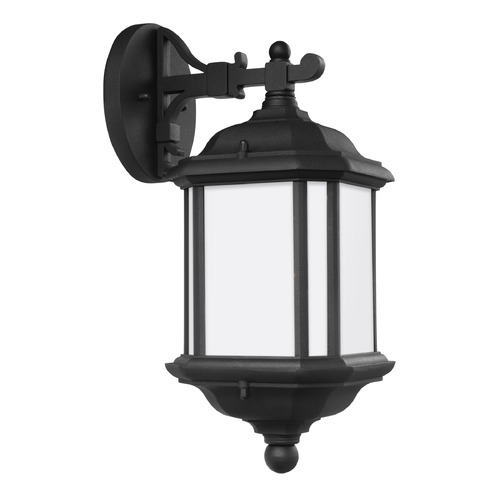 Sea Gull Lighting Sea Gull Kent Black Outdoor Wall Light 84530-12