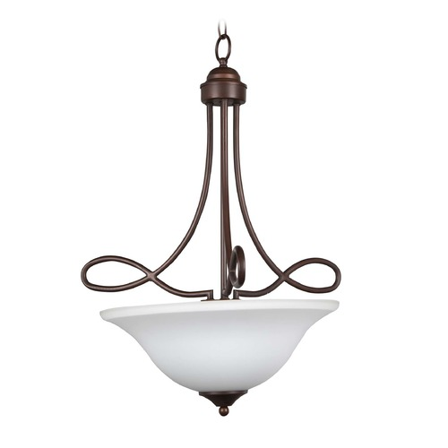 Craftmade Lighting Craftmade Lighting Cordova Old Bronze Pendant Light with Bowl / Dome Shade 25023-OB-WG