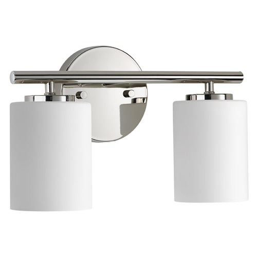 Progress Lighting Modern Bathroom Light Polished Nickel Replay by Progress Lighting P2158-104