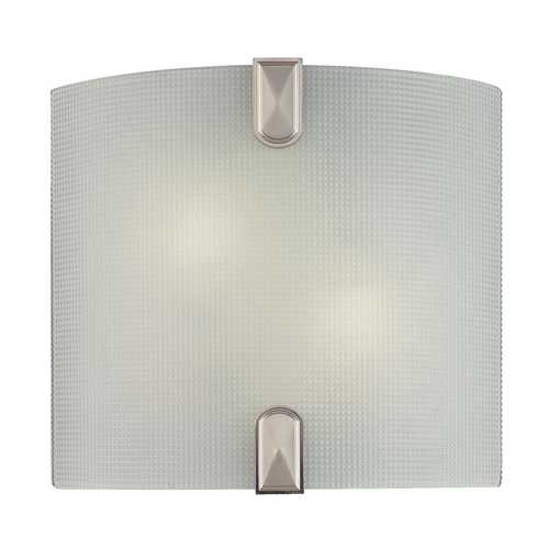 Minka Lavery Modern Sconce Wall Light with White Glass in Brushed Nickel Finish 372-84-PL