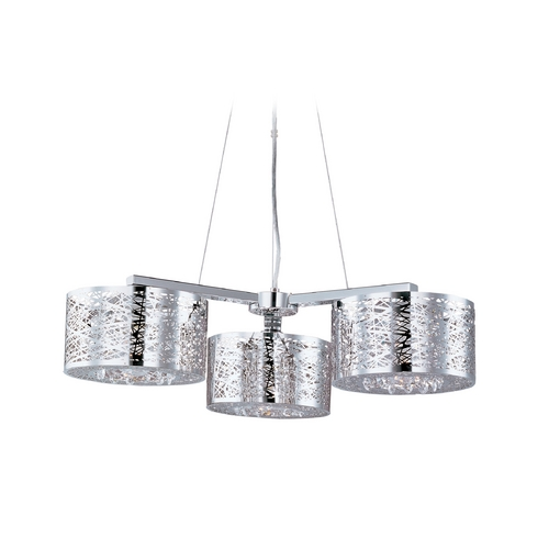ET2 Lighting Modern Multi-Light Pendant Light 3-Lights E21303-10PC