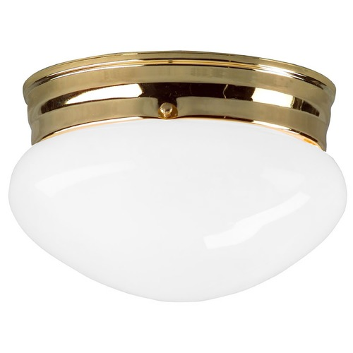 Design Classics Lighting 6-Inch Polished Brass Flushmount Ceiling Light 29621