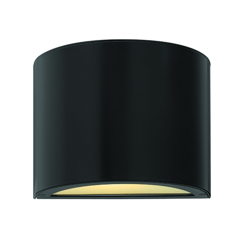 Hinkley Lighting Modern LED Outdoor Wall Light with Etched in Satin Black Finish 1666SK-LED