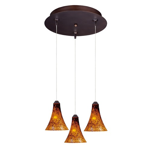 ET2 Lighting Minx Bronze Multi-Light Pendant with Bell Shade E94633-104BZ