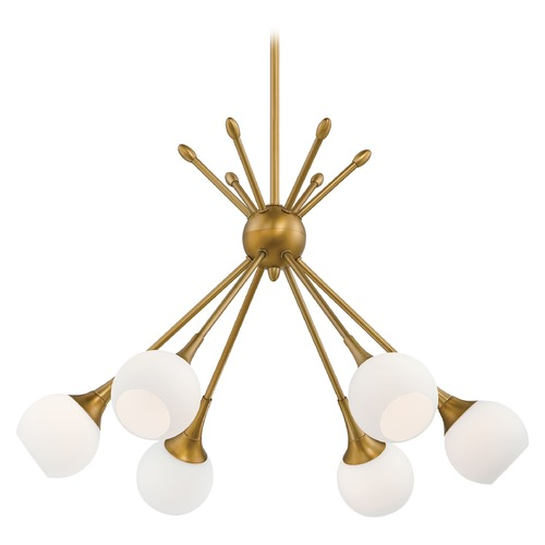 George Kovacs Lighting Mid-Century Modern Chandelier Gold Finish 6Lt by George Kovacs P1806-248