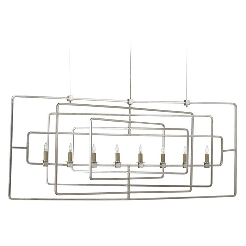 Currey and Company Lighting Currey and Company Lighting Metro Silver Leaf Chandelier 9836