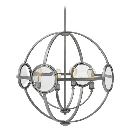 Hinkley Lighting Hinkley Lighting Fulham Polished Antique Nickel Chandelier 3924PL