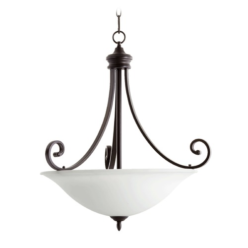 Quorum Lighting Quorum Lighting Bryant Oiled Bronze Pendant Light with Bowl / Dome Shade 8154-4-186