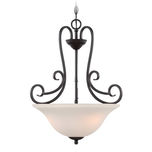 Designers Fountain Lighting Designers Fountain Addison Oil Rubbed Bronze Pendant Light with Bowl / Dome Shade 85231-ORB