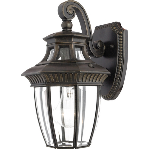Quoizel Lighting Outdoor Wall Light with Clear Glass in Imperial Bronze Finish GT8980IB