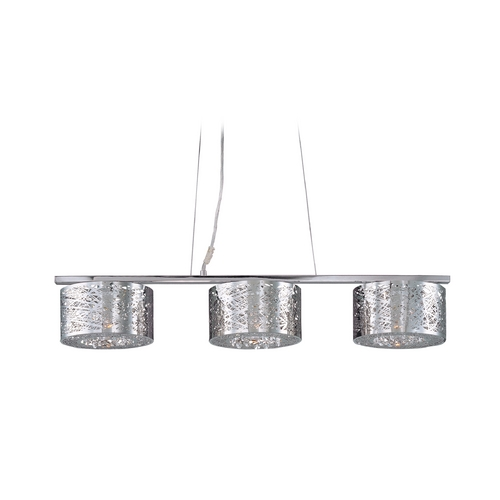 ET2 Lighting Modern Island Light in Polished Chrome Finish E21304-10PC