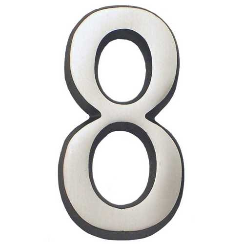 Gaines Hardware #8 Satin Nickel 4-Inch House Number GM CN-8
