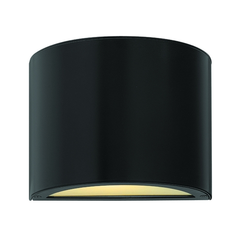 Hinkley Lighting Modern LED Outdoor Wall Light with Etched in Satin Black Finish 1667SK-LED