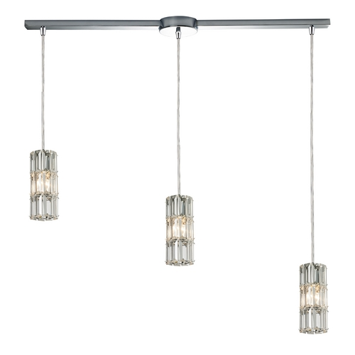 Elk Lighting Crystal Multi-Light Pendant Light 3-Lights 31486/3L