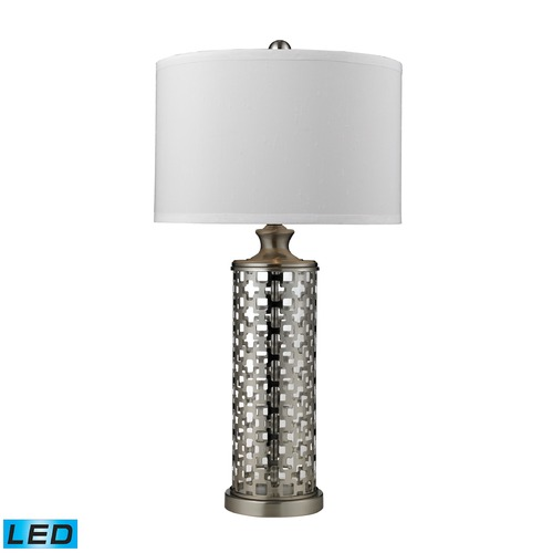 Dimond Lighting Dimond Lighting Brushed Nickel LED Table Lamp with Drum Shade D2313-LED