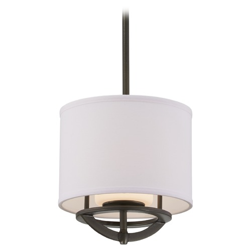 George Kovacs Lighting George Kovacs Circuit Smoked Iron Mini-Pendant Light with Cylindrical Shade P1811-172
