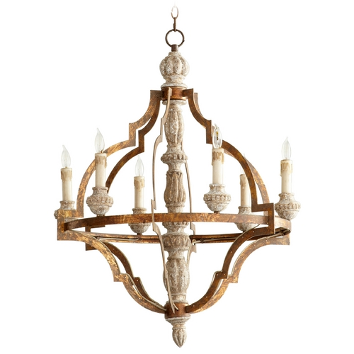 Cyan Design Cyan Design Bastille Sawyer's White Wash Plantation Bronze Chandelier 05256