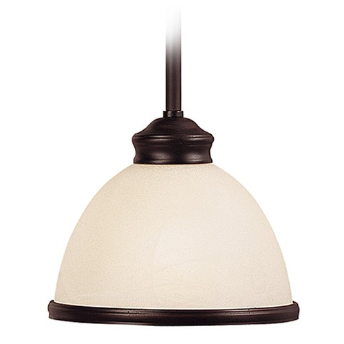 Savoy House Savoy House English Bronze Mini-Pendant Light with Bowl / Dome Shade 7-5784-1-13