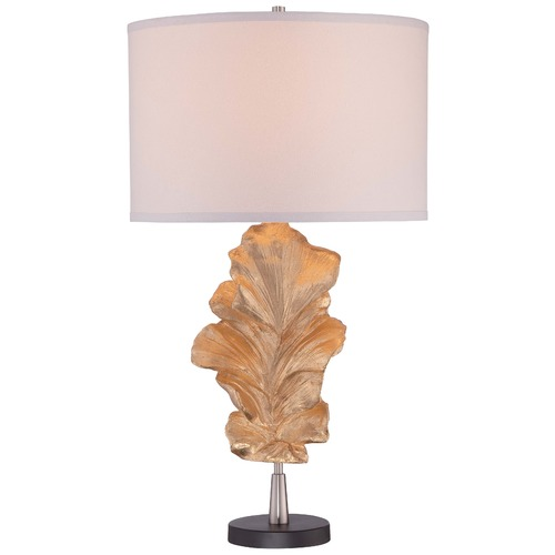 Minka Lavery Minka Gold Leaf Table Lamp with Drum Shade 12426-0